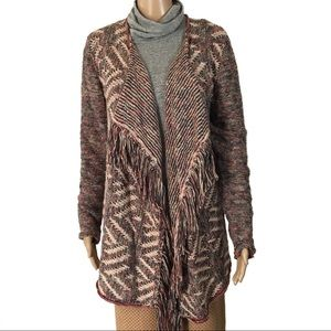 NWT LUCKY BRAND Muted Colors Waterfall Cardigan